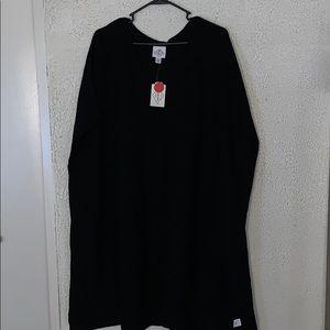 St. John's bay black sweater poncho